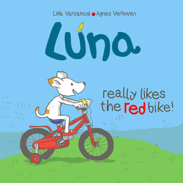Luna really likes the red bike